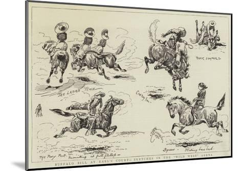 Buffalo Bill at Earl's Court, Sketches in the Wild West Arena-Alfred Chantrey Corbould-Mounted Giclee Print