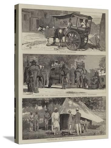 Views in India-Alfred Chantrey Corbould-Stretched Canvas Print