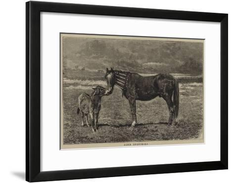 Kind Inquiries-Alfred Chantrey Corbould-Framed Art Print