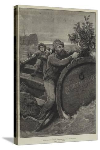 Christmas Decorations, Christmas Morning-Alfred Edward Emslie-Stretched Canvas Print