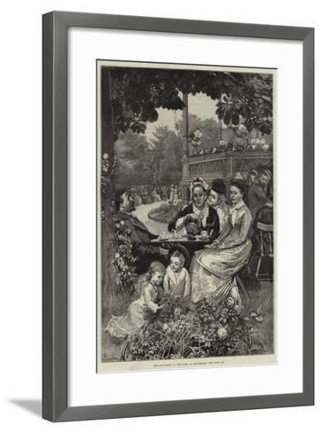 Tea and Music in the Park at Rotterdam-Alfred Edward Emslie-Framed Art Print