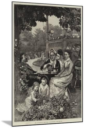 Tea and Music in the Park at Rotterdam-Alfred Edward Emslie-Mounted Giclee Print