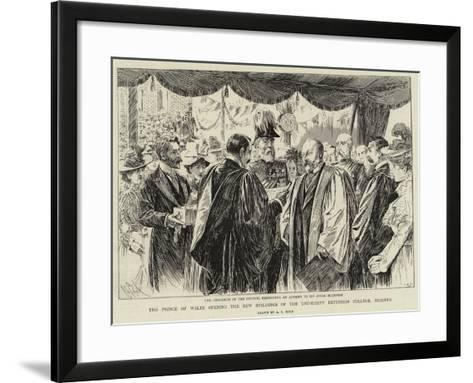 The Prince of Wales Opening the New Buildings of the University Extension College, Reading-Alexander Stuart Boyd-Framed Art Print