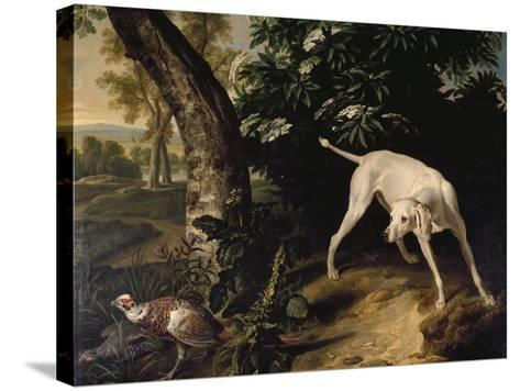Hunting Scene-Alexandre-Francois Desportes-Stretched Canvas Print
