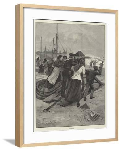 Suspense-Amedee Forestier-Framed Art Print