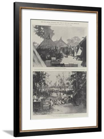 With the British Expedition from Accra to the Gold Coast Hinterland-Amedee Forestier-Framed Art Print