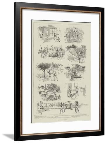 Tiger-Shooting in India-Amedee Forestier-Framed Art Print