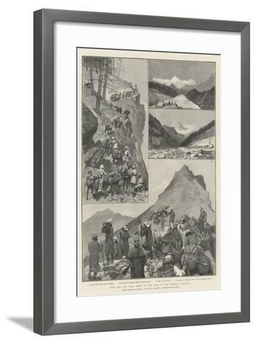 With the Niti Field Force on the Road to the Thibetan Frontier-Amedee Forestier-Framed Art Print