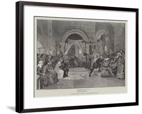 Mr Beerbohm Tree in Hamlet, at the Haymarket Theatre-Amedee Forestier-Framed Art Print