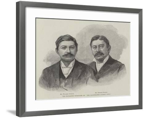 The Managing Director of The Illustrated London News-Amedee Forestier-Framed Art Print