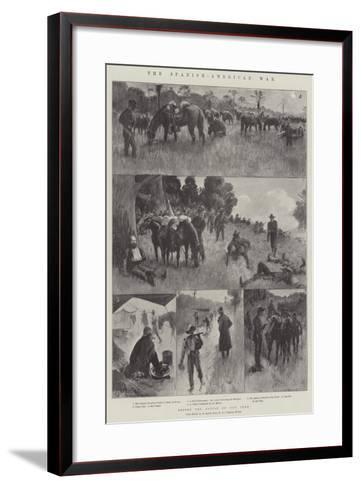 The Spanish-American War, before the Battle of San Juan-Amedee Forestier-Framed Art Print