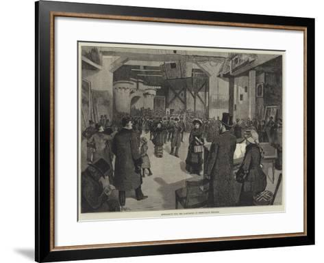 Rehearsing for the Pantomime at Drury-Lane Theatre-Amedee Forestier-Framed Art Print