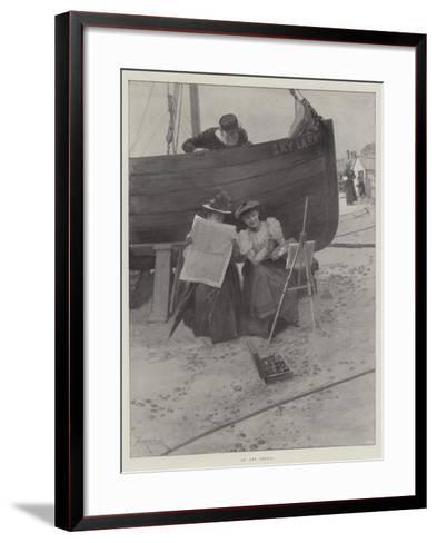 An Art Critic-Amedee Forestier-Framed Art Print