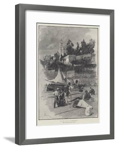 On the Beach at Bordighera-Amedee Forestier-Framed Art Print