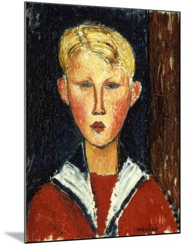 The Blue-Eyed Boy, 1916-Amedeo Modigliani-Mounted Giclee Print