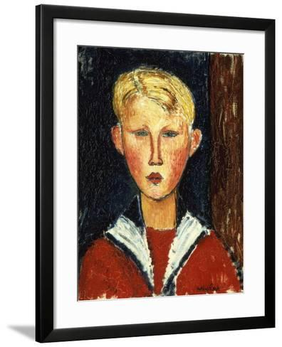 The Blue-Eyed Boy, 1916-Amedeo Modigliani-Framed Art Print