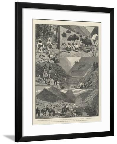 The Niti Field Force on the Thibet Frontier-Amedee Forestier-Framed Art Print