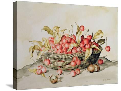 Basket of Cherries, 1998-Amelia Kleiser-Stretched Canvas Print