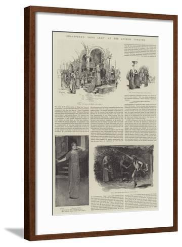 Shakspere's King Lear at the Lyceum Theatre-Amedee Forestier-Framed Art Print