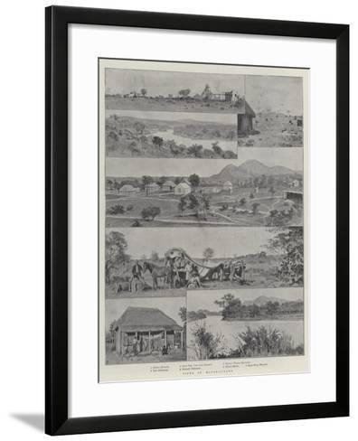 Views in Matabililand-Amedee Forestier-Framed Art Print
