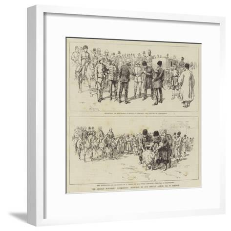 The Afghan Boundary Commission-Amedee Forestier-Framed Art Print