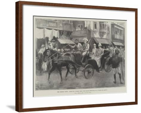The Bombay Riots, Removing Nurses from the Plague Hospital to a Place of Safety-Amedee Forestier-Framed Art Print