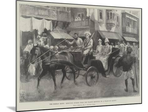 The Bombay Riots, Removing Nurses from the Plague Hospital to a Place of Safety-Amedee Forestier-Mounted Giclee Print