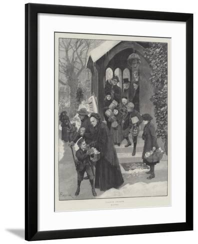 Village Charity-Amedee Forestier-Framed Art Print