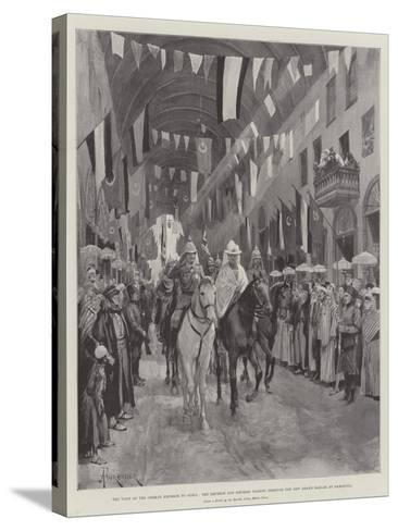 The Visit of the German Emperor to Syria-Amedee Forestier-Stretched Canvas Print