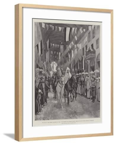 The Visit of the German Emperor to Syria-Amedee Forestier-Framed Art Print