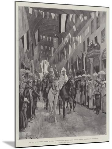 The Visit of the German Emperor to Syria-Amedee Forestier-Mounted Giclee Print