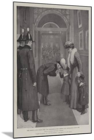 Lord Roberts in His London Hotel, the Commander-In-Chief Greeting Lady Settrington's Little Girl-Amedee Forestier-Mounted Giclee Print