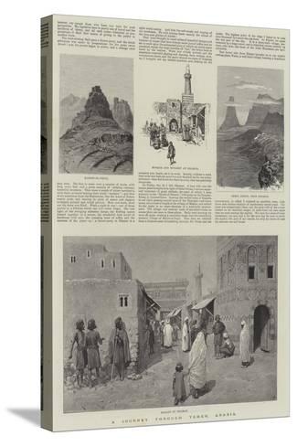 A Journey Through Yemen, Arabia-Amedee Forestier-Stretched Canvas Print
