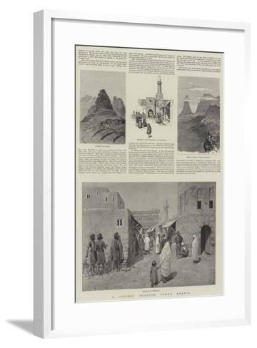 A Journey Through Yemen, Arabia-Amedee Forestier-Framed Art Print