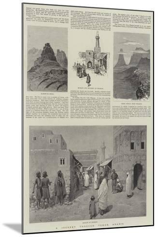 A Journey Through Yemen, Arabia-Amedee Forestier-Mounted Giclee Print