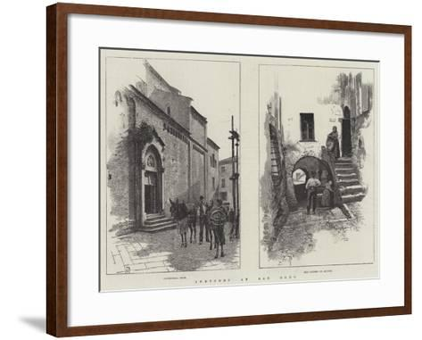 Sketches at San Remo-Amedee Forestier-Framed Art Print
