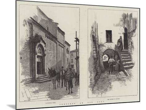 Sketches at San Remo-Amedee Forestier-Mounted Giclee Print
