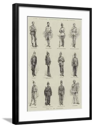 The Easter Volunteer Manoeuvres-Amedee Forestier-Framed Art Print