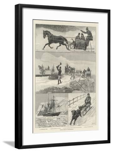 Winter Scenes in Newfoundland-Amedee Forestier-Framed Art Print