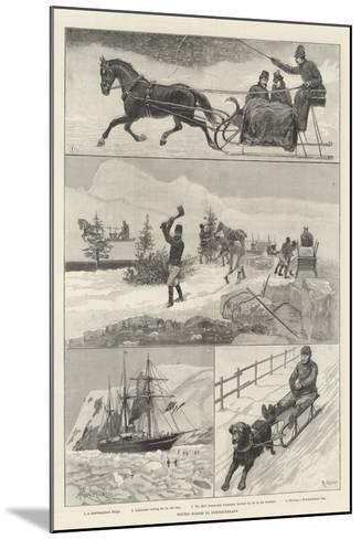 Winter Scenes in Newfoundland-Amedee Forestier-Mounted Giclee Print