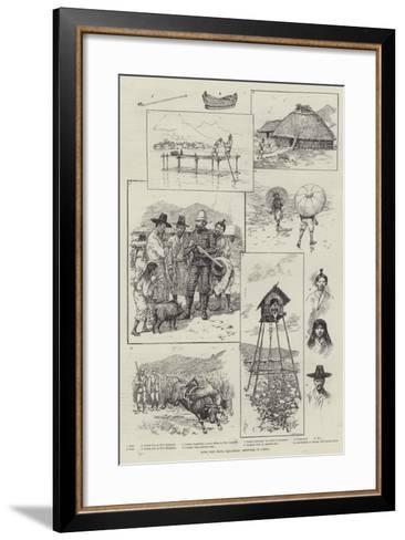 With the China Squadron, Sketches in Corea-Amedee Forestier-Framed Art Print