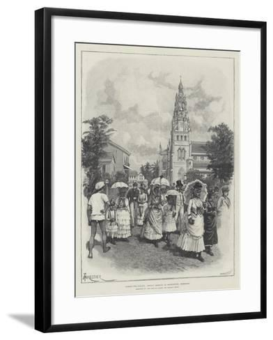 Across Two Oceans, Sunday Morning in Georgetown, Demerara-Amedee Forestier-Framed Art Print