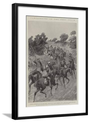 Campaigning in the Free State-Amedee Forestier-Framed Art Print