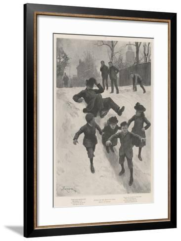Justice on the Heels of Crime-Amedee Forestier-Framed Art Print