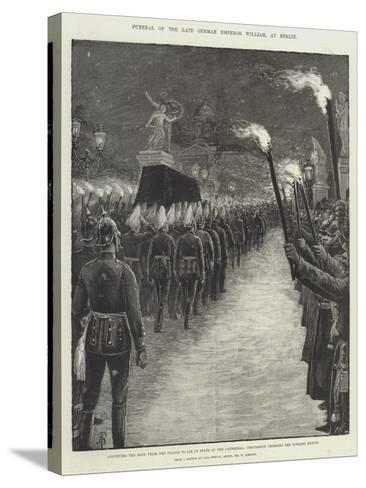 Funeral of the Late German Emperor William, at Berlin-Amedee Forestier-Stretched Canvas Print