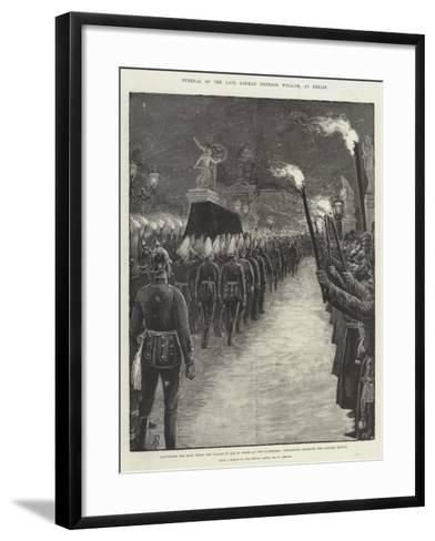 Funeral of the Late German Emperor William, at Berlin-Amedee Forestier-Framed Art Print