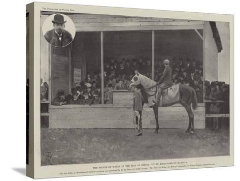 The Prince of Wales at the Sale of Flying Fox at Kingsclere on 8 March-Amedee Forestier-Stretched Canvas Print