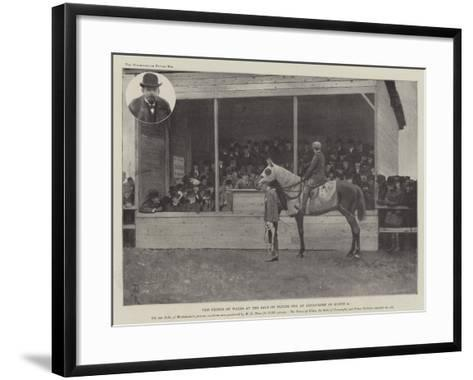 The Prince of Wales at the Sale of Flying Fox at Kingsclere on 8 March-Amedee Forestier-Framed Art Print