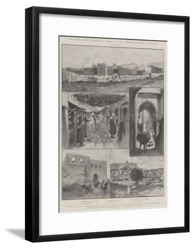 The Revolution in Morocco, Scenes in the Disturbed District of Tetuan-Amedee Forestier-Framed Art Print