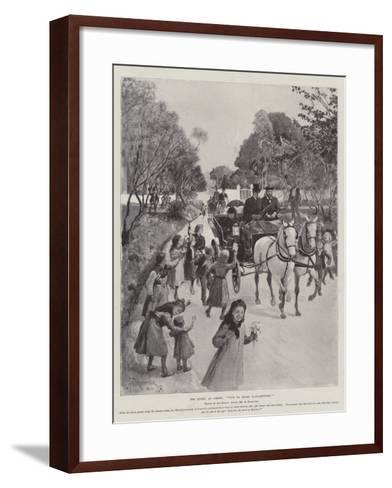 The Queen at Cimiez, Vive La Reine D'Angleterre!-Amedee Forestier-Framed Art Print